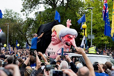 Unveiling of the anti-Brexit float