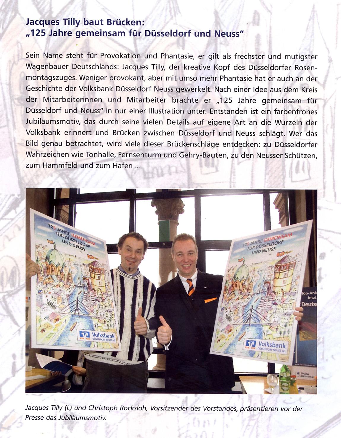 Jubiläumsposter für die Volksbank Düsseldorf-Neuss 2006 ...