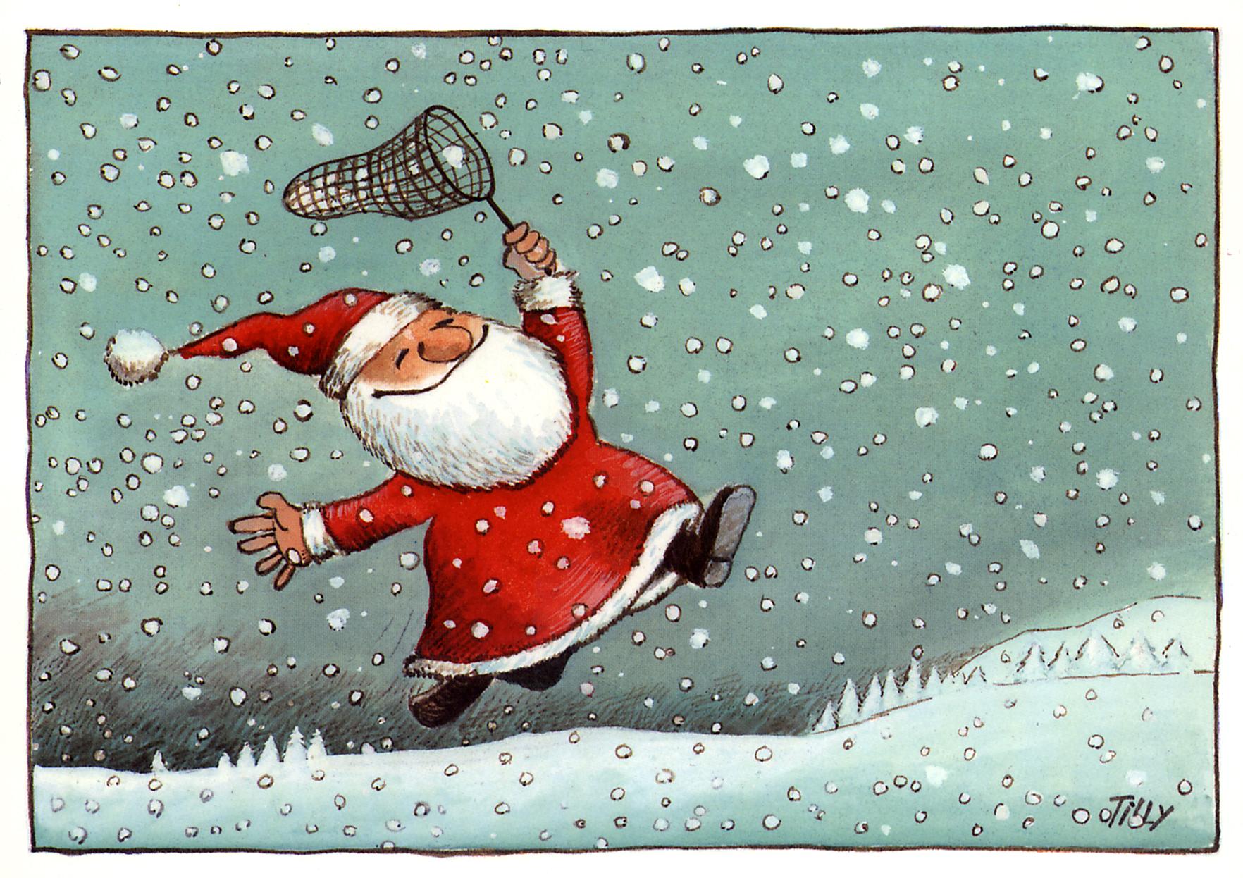 weihnachtsmann im schnee