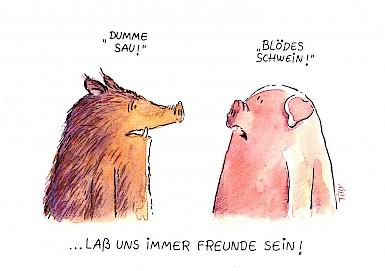 Blödes Schwein